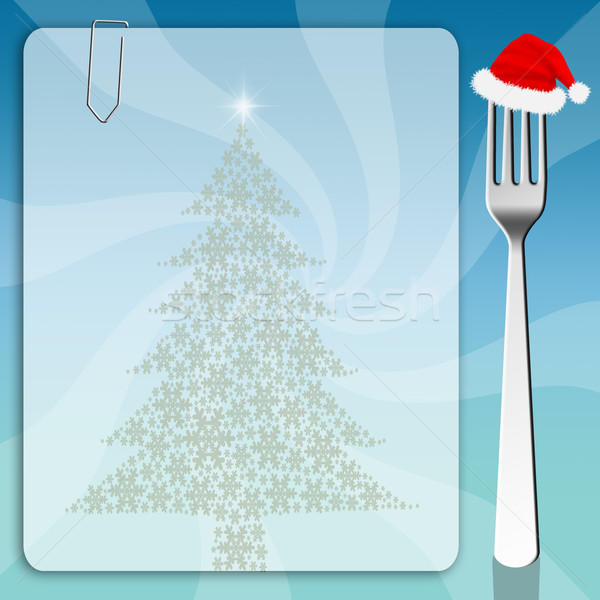 メニュー クリスマス 雪 背景 料理 リスト ストックフォト © sognolucido