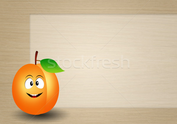 Funny apricot Stock photo © sognolucido