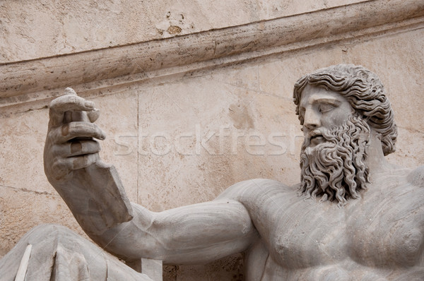 Statue of the Nile in Campidoglio Place in Rom Stock photo © sognolucido