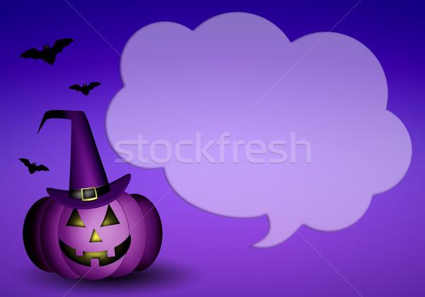 Kabak halloween örnek mutlu şapka kutlama Stok fotoğraf © sognolucido