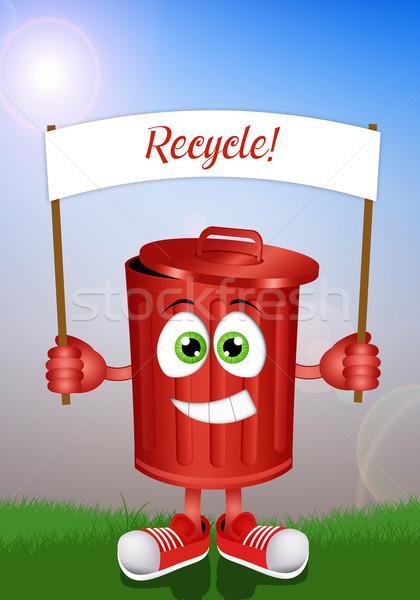 смешные мусора Recycle иллюстрация рециркуляции Сток-фото © sognolucido