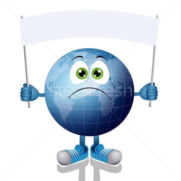 синий земле иллюстрация лента мира дизайна Сток-фото © sognolucido