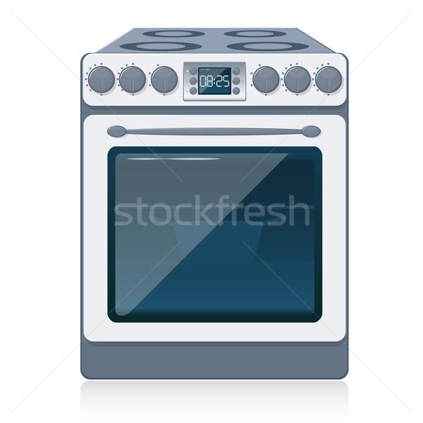 кухне печи изолированный белый вектора печи Сток-фото © SolanD