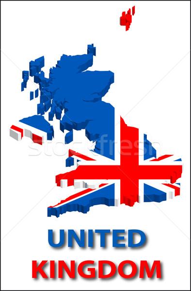 Egyesült Királyság terület zászló textúra illusztráció eps10 Stock fotó © SolanD