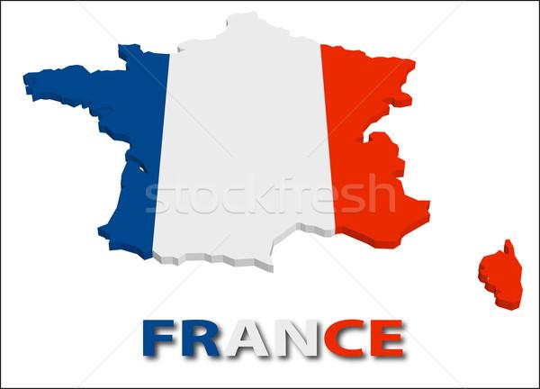 France pavillon texture illustration eps10 Photo stock © SolanD