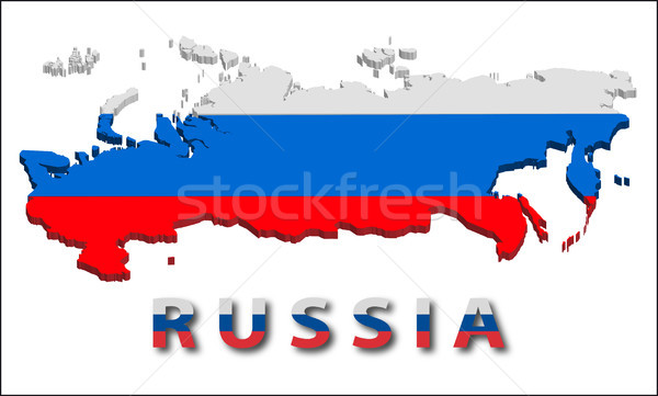 Russia territory with flag texture. Stock photo © SolanD