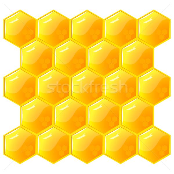 En nid d'abeille isolé blanche vecteur eps8 texture Photo stock © SolanD