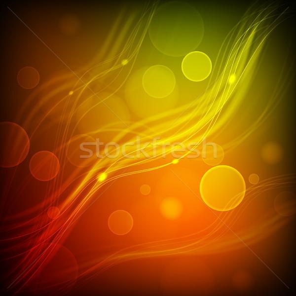 抽象的な ベクトル 透明な ライト カラフル 波 ストックフォト © SolanD
