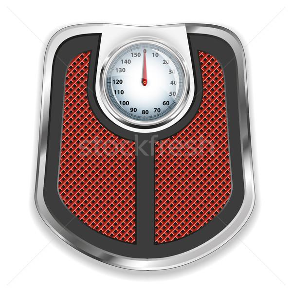 Bathroom scale. Vector illustration. Stock photo © SolanD