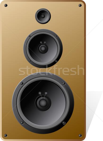 Hangfalak fehér zene ipar árnyék basszus Stock fotó © SolanD