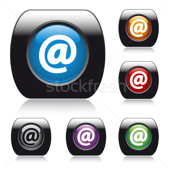 ベクトル ボタン Webデザイン 矢印 簡単 ストックフォト © SolanD