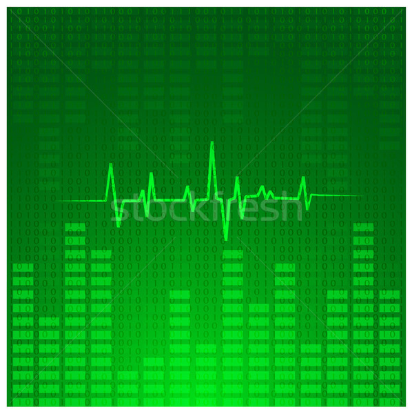 Absztrakt zene diagram eps10 technológia háttér Stock fotó © SolanD