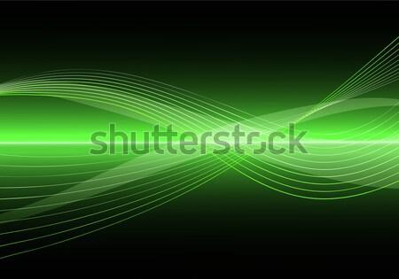 Absztrakt tiszta vektor hullám illusztráció eps10 Stock fotó © SolanD