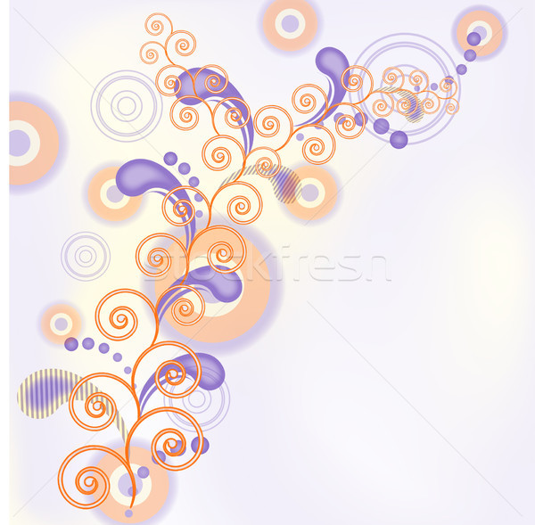 Spirale vecteur stylisé décoratif tourbillons eps10 Photo stock © SolanD