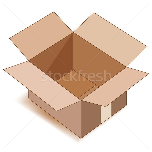 Vide ouvrir papier boîte blanche espace Photo stock © SolanD