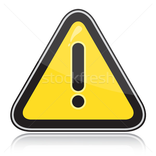 Yellow triangular other dangers warning sign Stock photo © SolanD