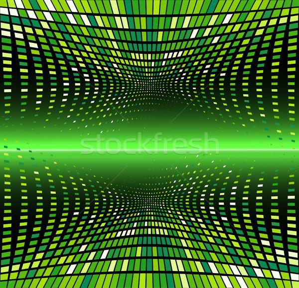 Absztrakt tiszta vektor hullám illusztráció eps8 Stock fotó © SolanD