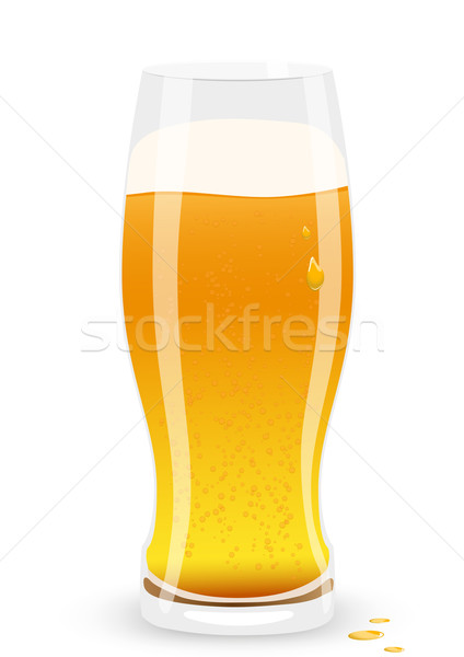 Lager beer. Vector illustration. Stock photo © SolanD