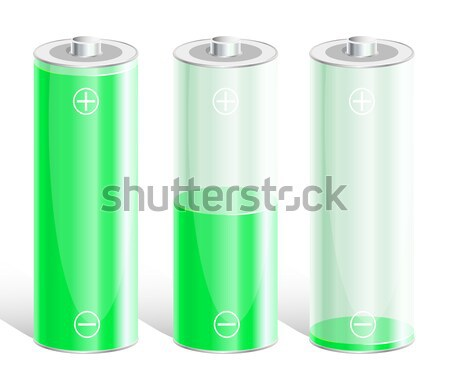 Battery with the level of charge. Stock photo © SolanD