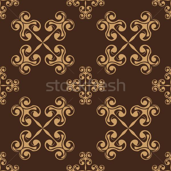 Végtelen minta dekoráció díszes eps8 háttér művészet Stock fotó © SolanD