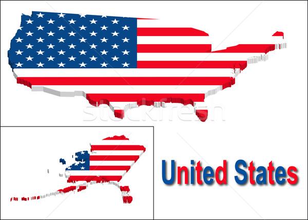 Egyesült Államok terület zászló textúra illusztráció eps10 Stock fotó © SolanD