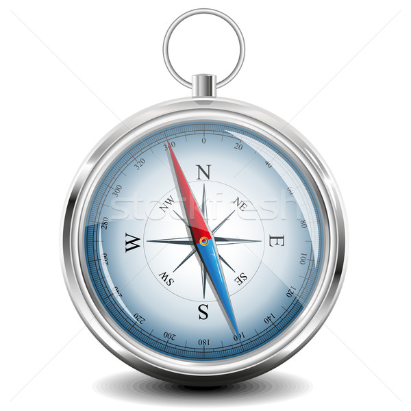 Compass with windrose. Vector Illustration. Stock photo © SolanD