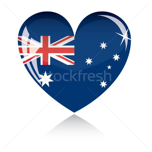 ベクトル 中心 オーストラリア フラグ テクスチャ 孤立した ストックフォト © SolanD