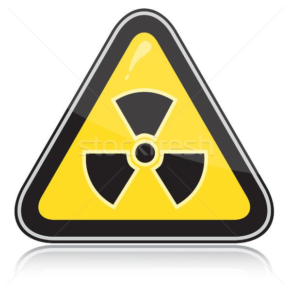 Warning radiation hazard sign Stock photo © SolanD