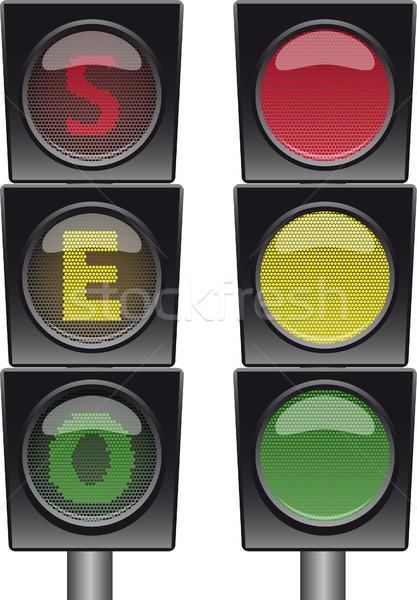 Seo 実例 デザイン 白 エンジン ボタン ストックフォト © SolanD
