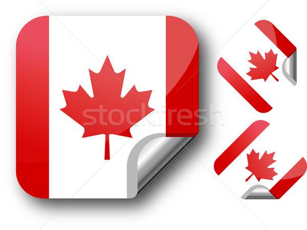 ステッカー カナダ フラグ eps10 星 ボタン ストックフォト © SolanD