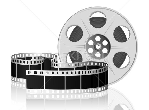 Twisted film for movie. Vector Illustration. Stock photo © SolanD