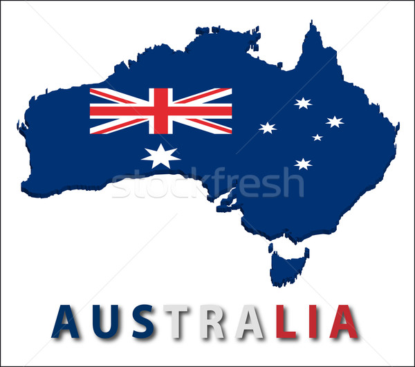 Australië gebied vlag textuur illustratie eps10 Stockfoto © SolanD