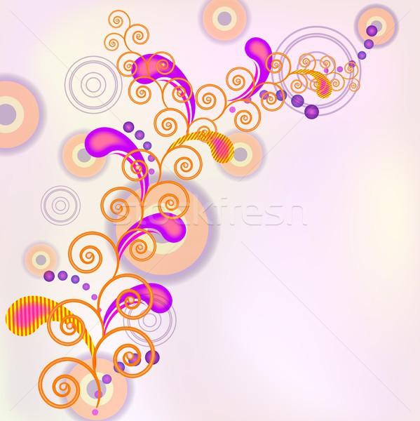 Spirál vektor stilizált dekoratív örvények eps10 Stock fotó © SolanD