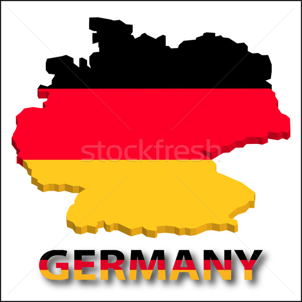 Germany territory with flag texture. Stock photo © SolanD