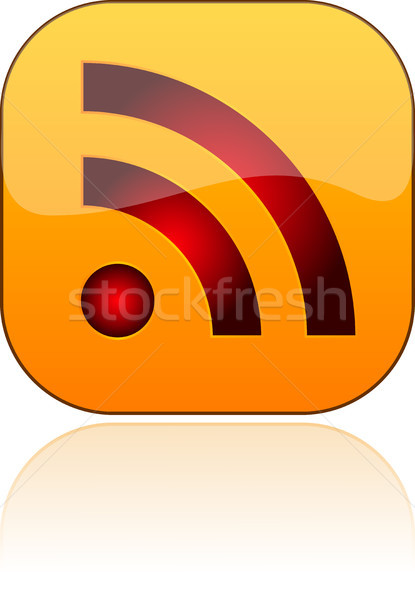 Glossy RSS vector button Stock photo © SolanD