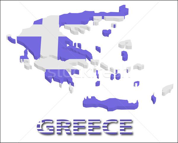 Görögország terület zászló textúra illusztráció eps10 Stock fotó © SolanD