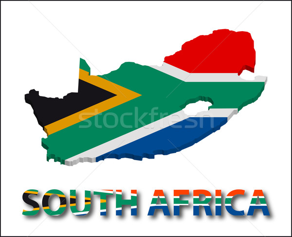Stockfoto: South · Africa · gebied · vlag · textuur · illustratie · eps10