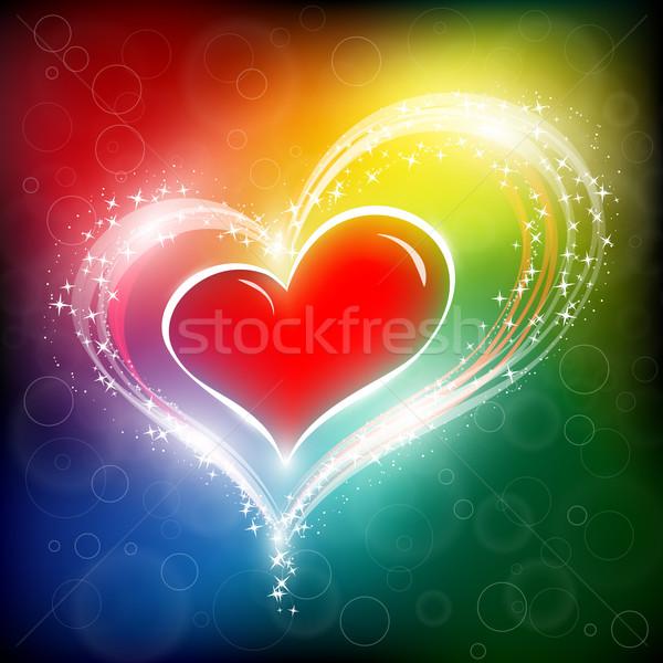 バレンタインデー 中心 eps10 幸せ デザイン 星 ストックフォト © SolanD