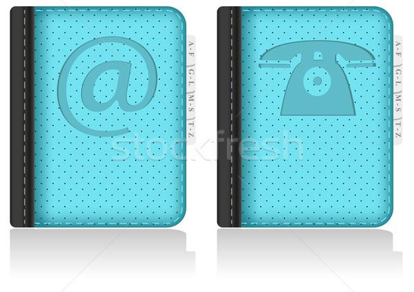 Adressbook, notebook, phonebook. Vector. Stock photo © SolanD