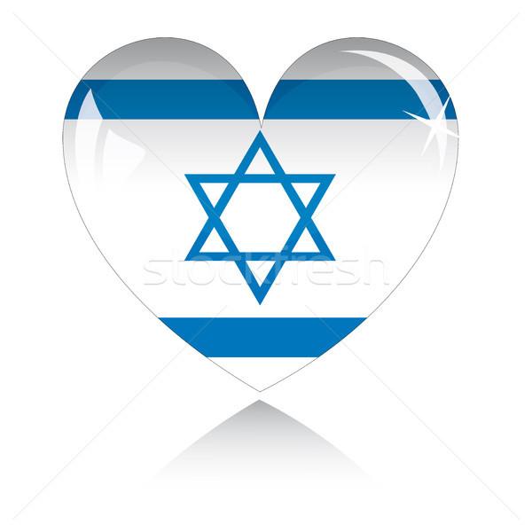Vettore cuore Israele bandiera texture isolato Foto d'archivio © SolanD
