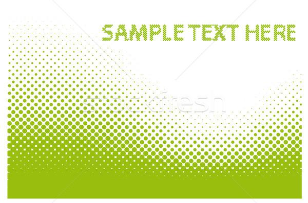 Absztrakt vektor minta szöveg itt halftone Stock fotó © SolanD