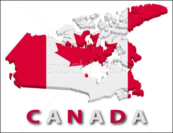 Canada territorio bandiera texture illustrazione eps10 Foto d'archivio © SolanD