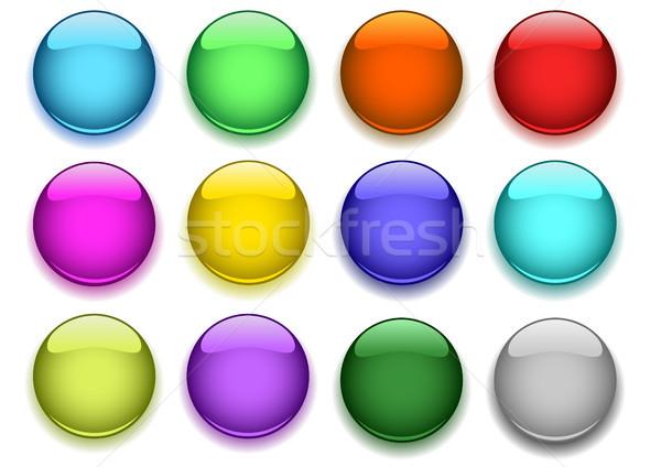 Fényes gombok árnyék számítógép terv grafikus Stock fotó © SolanD