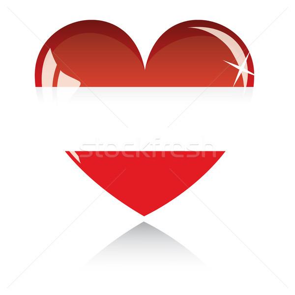 Vector hart Letland vlag textuur geïsoleerd Stockfoto © SolanD