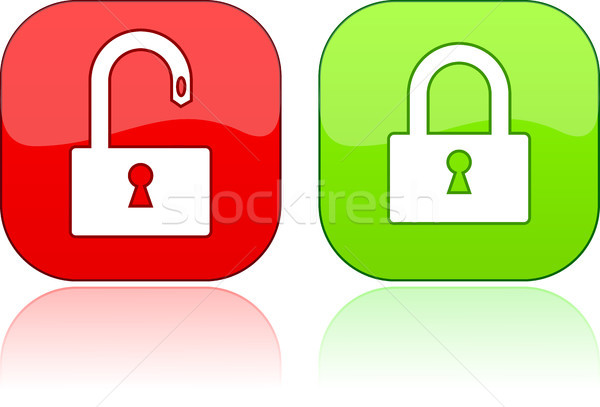 Vector glossy button for web design. Stock photo © SolanD