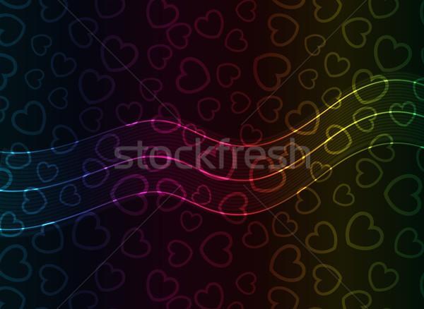 Absztrakt vektor szív átlátszó fények eps10 Stock fotó © SolanD