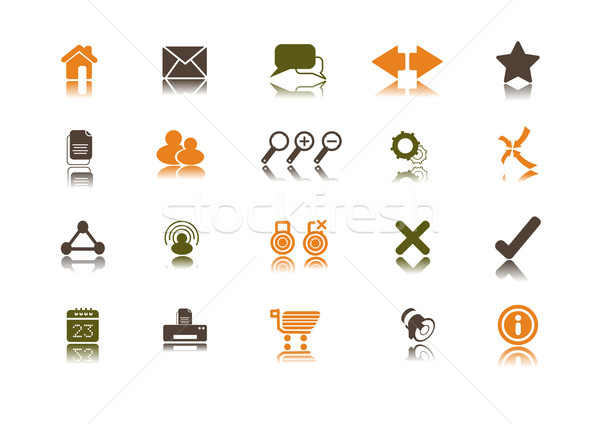 Internet Icon set | Clean Stock photo © solarseven
