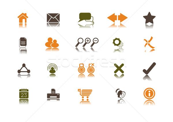 Internet temizlemek toplama web sitesi simgeler Stok fotoğraf © solarseven