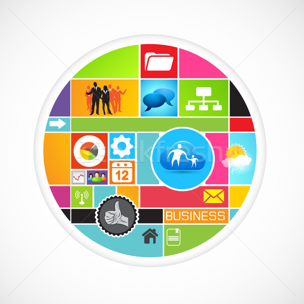 Business Circle Vector Stock photo © solarseven