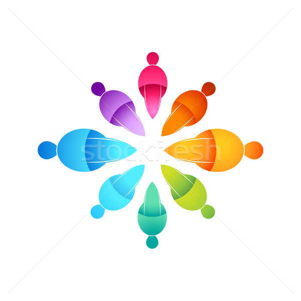 People Connected Icon Stock photo © solarseven
